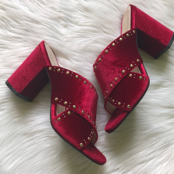 45f01631218 Cole Haan Gabby Studded Slip-On Block Heel Sandal